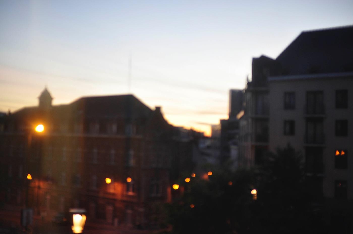 ベルギーブリュッセルの夕暮れ